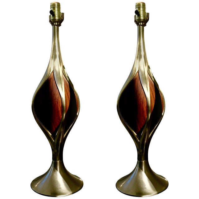 1970s Mid-Century Modern Laurel Table Lamps For Sale - Image 5 of 5