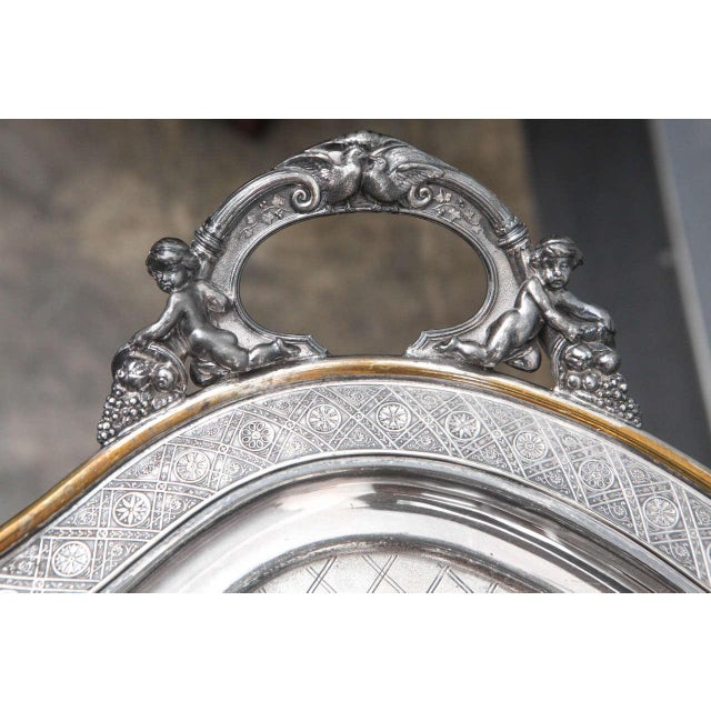 Reed & Barton Large Butler Serving Tray For Sale - Image 4 of 8