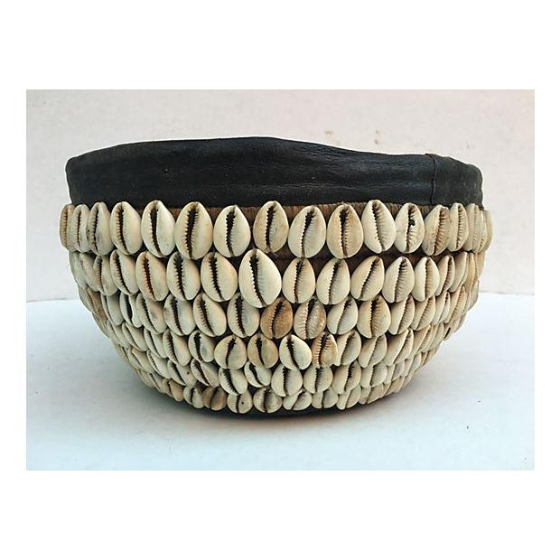African African Tribal Shell Basket For Sale - Image 3 of 6