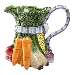 Fitz and Floyd Vegetable Pitcher