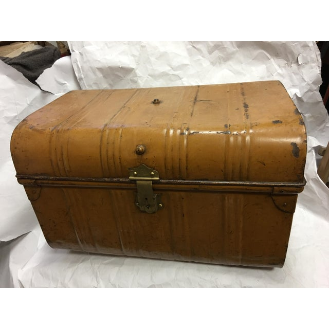 Old Victorian English Tin Trunk - Image 3 of 6