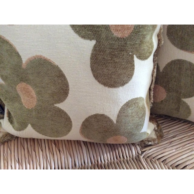 1980s Vintage Borgata Crazy Flower Pillows - a Pair For Sale - Image 9 of 11