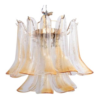Extra Large Murano Chandelier with Gold-Plated Base, Italy, 1970s For Sale