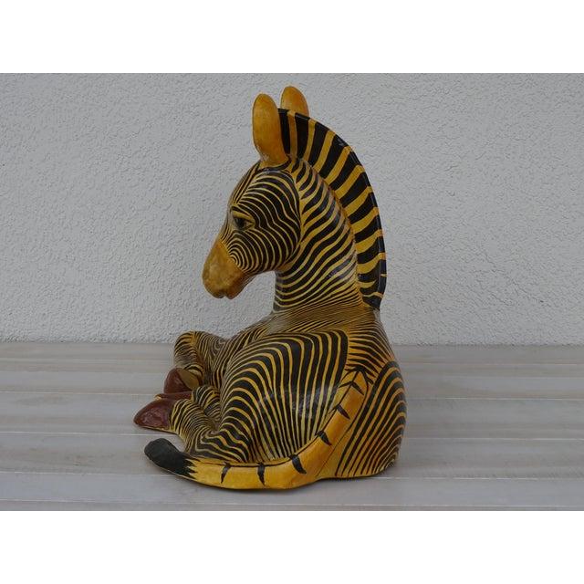 Figurative Vintage Mid-Century Sermel Art Paper Mache Zebra For Sale - Image 3 of 12