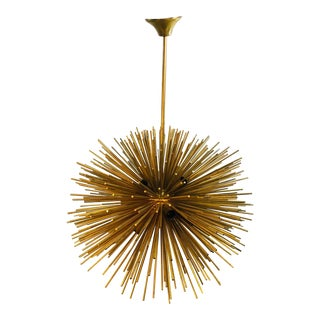 Italian Brass Sputnik Chandelier For Sale