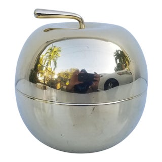Vintage Apple Shape Brass Box For Sale