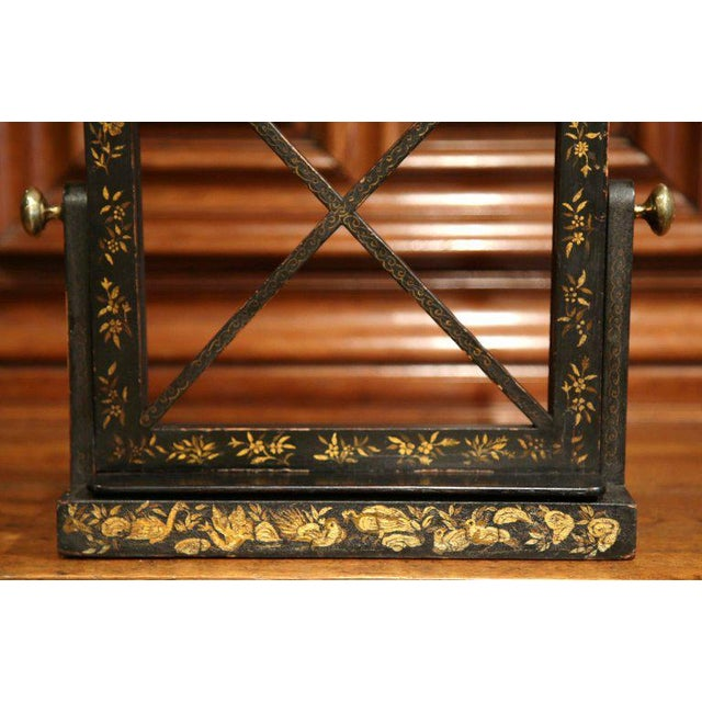Early 20th Century French Hand Painted Bookstand - Image 3 of 7