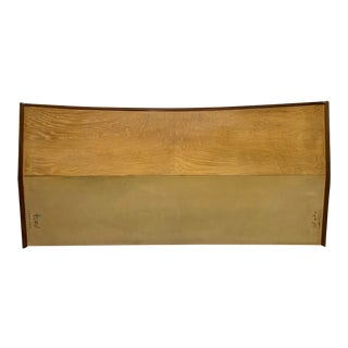 Mid Century Modern Walnut and Birch King Size Headboard For Sale