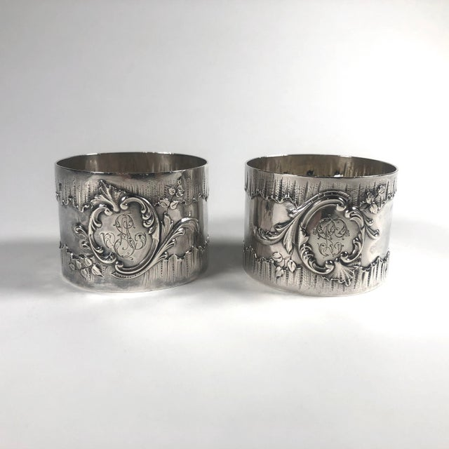 Metal 19th Century French Henri Sufflot Minerva Silver Napkin Rings - a Pair For Sale - Image 7 of 7