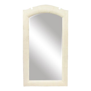 French Art Deco Style Beige Shagreen Wall Mirrors For Sale