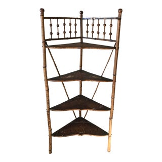 Victorian Bamboo Etagere Aesthetic Movement Stick and Ball Motif Antique For Sale