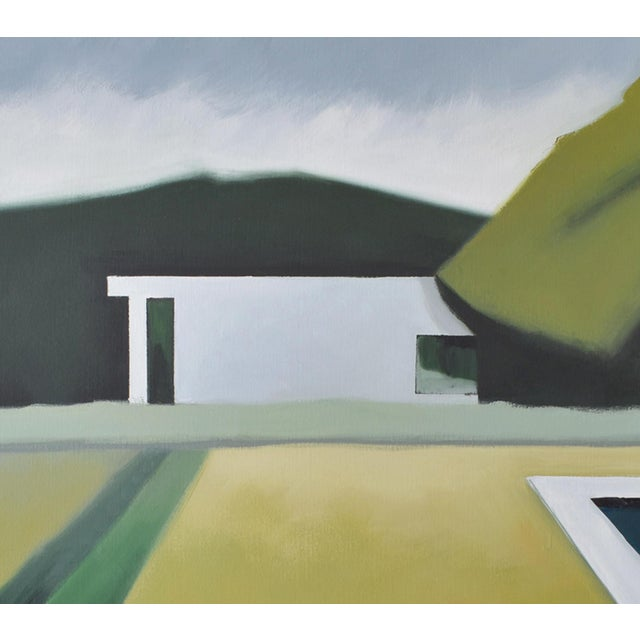 """Not Yet Made - Made To Order """"Abstract Landscape Poolside"""" - Framed Print 40x60 For Sale - Image 5 of 8"""