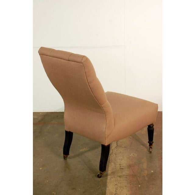 Chic Napoleon III Tufted Chauffeuse For Sale - Image 4 of 8