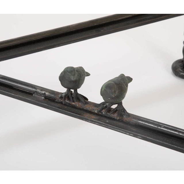 Patinated Wrought Iron Coffee Table by Llana Goor For Sale - Image 11 of 13