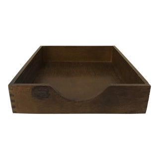 """Mid Century Wooden """"In"""" Box For Sale"""