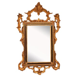 LaBarge Italian Gilt Wood Venetian Mirror For Sale