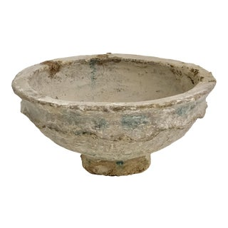 Vintage Hand-Crafted Papier-Mache Bowl For Sale