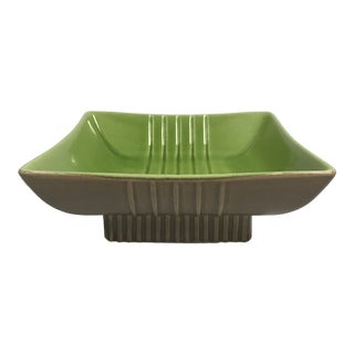 Roselane Mid-Century Two-Tone Green Dish For Sale
