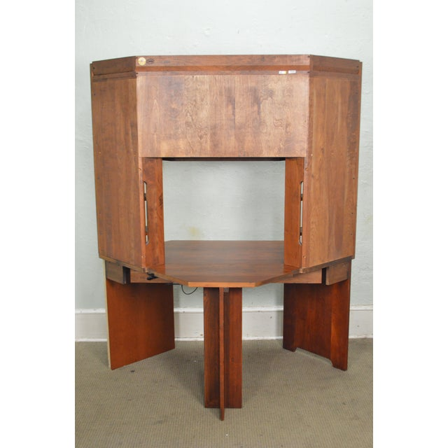 Stickley solid cherry corner desk w bookcase top chairish stickley solid cherry corner desk w bookcase top image 4 of 10 watchthetrailerfo