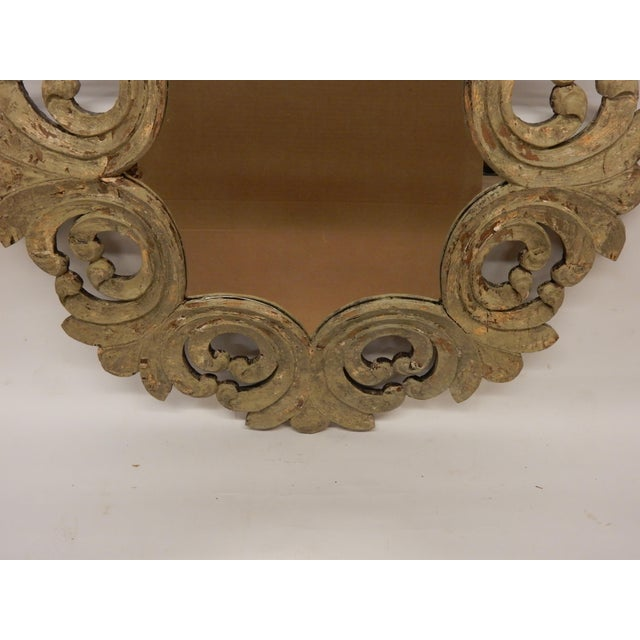 19th Century Italian Rococo Painted Mirror For Sale - Image 4 of 7
