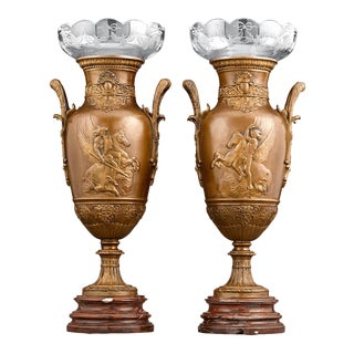 French Neoclassical Bronze Urns For Sale