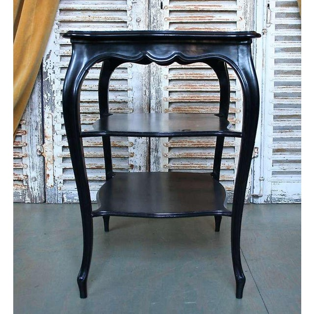 French Napoleon III End Table with Black Glass - Image 7 of 9
