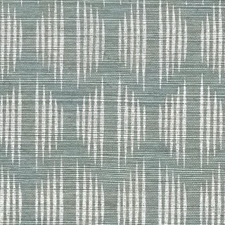 Schumacher X David Oliver Ovington Sisal Wallpaper in Mineral For Sale