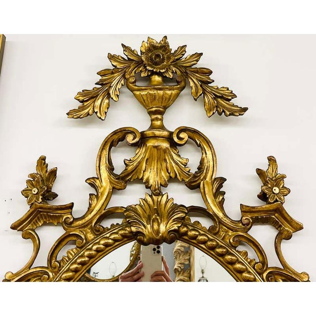 Pair Gilt Wood Wall or Console Mirrors For Sale - Image 11 of 12