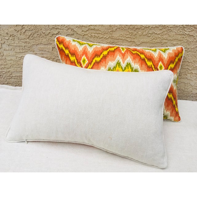 Mid Century Brunschwig and Fils Cotton Print Pillows - a Pair For Sale - Image 4 of 10