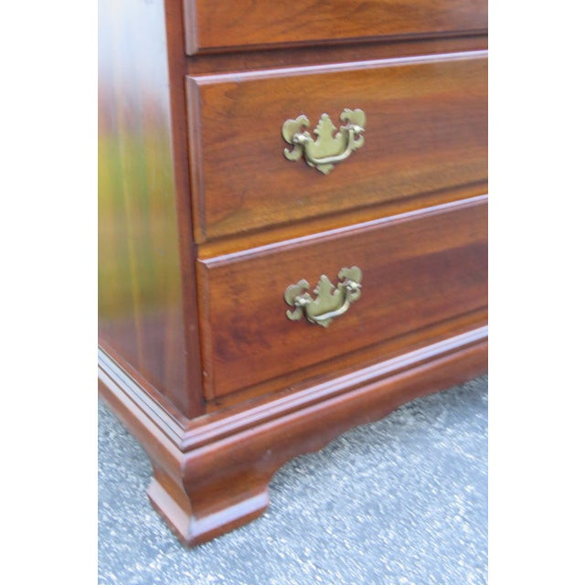 Solid Cherry Small Dresser With Pullout Tray 2413 For Sale - Image 9 of 13