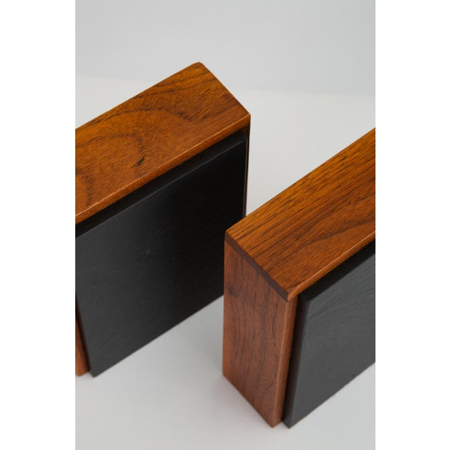 Pair of Scandinavian Modern Slate and Teak Bookends For Sale - Image 10 of 11
