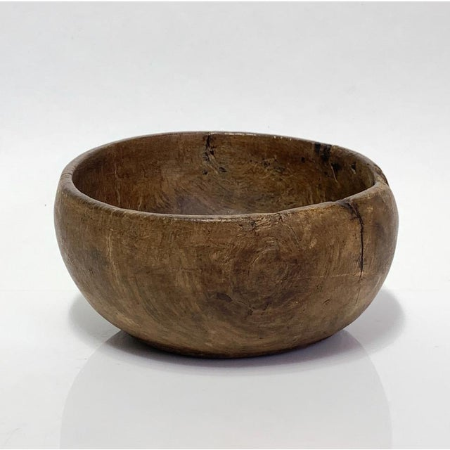 19th Century Hand Carved Burl Wood Bowl For Sale - Image 9 of 9