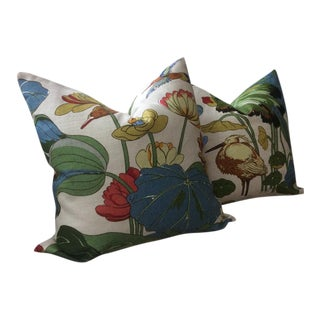 """Contemporary g.p. And J Baker """"Nympheus"""" Pillows in Stone - a Pair For Sale"""