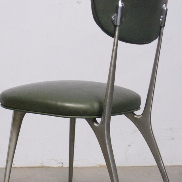 "Shelby Williams Sculptural Aluminum Frame ""Gazelle"" Chairs - Set of 8 For Sale - Image 10 of 11"