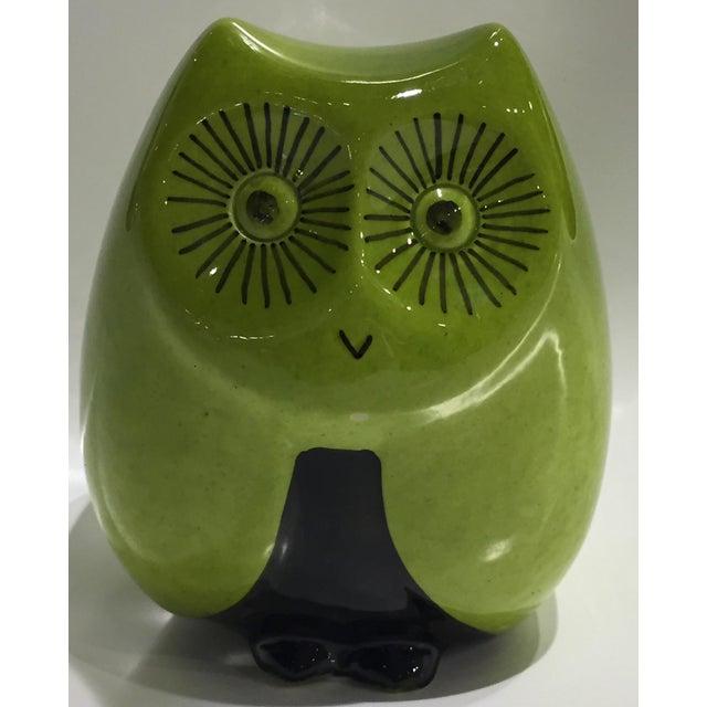 Vintage Mid Century Baldelli Italian Ceramic Owl Bank For Sale - Image 11 of 11