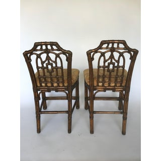 McGuire Style Rattan Pagoda Chinoiserie Counter Bar Stools Preview