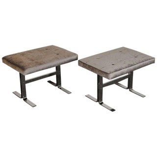 1970s Vintage Milo Baughman for Design Institute of America Benches- A Pair For Sale