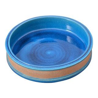 Vintage Danish Turquoise Ceramic Bowl by Nils Kähler For Sale