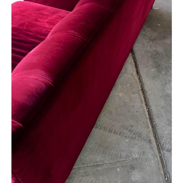 Hollywood Regency Style Velvet Sofa - Image 8 of 11