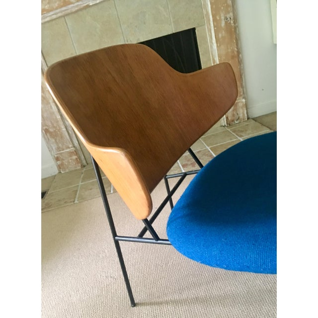 "Ib Kofod Larsen ""Penguin"" Chair in Blue - Image 8 of 11"