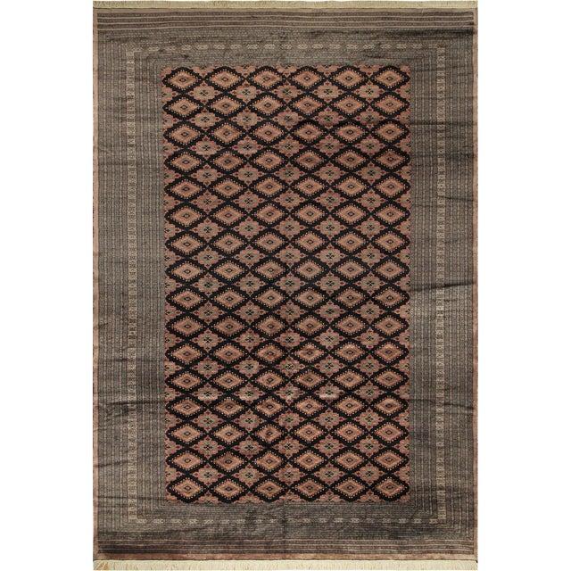 """Bokara Arya Kum Black & Brown Wool Rug - 10'3"""" x 13'11"""" For Sale"""