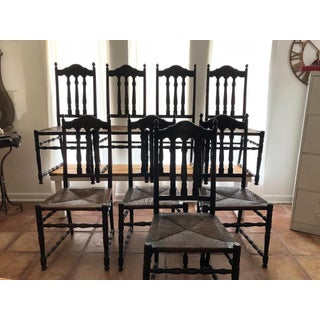 Vintage Bannister Back Chairs- Set of 8 Preview