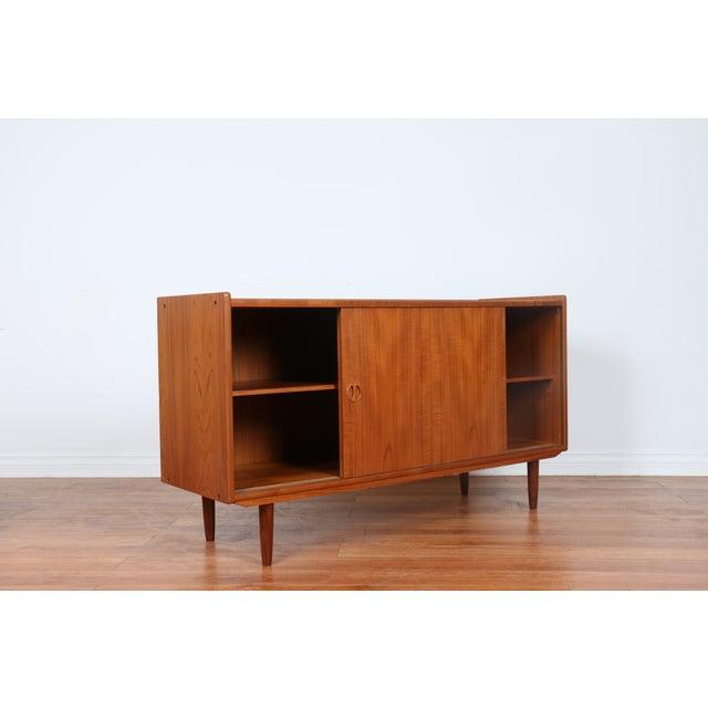 Vintage 1960s Teak Shelving Credenza For Sale - Image 9 of 11