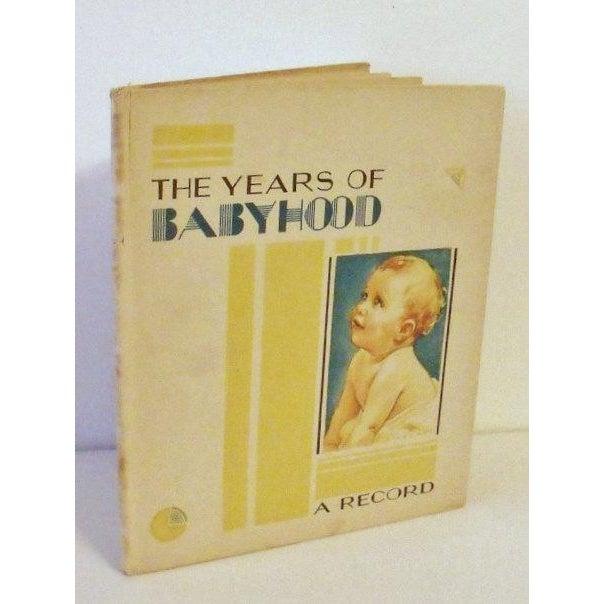 Art Deco Baby Book - The Years of Babyhood Unused - Image 2 of 5