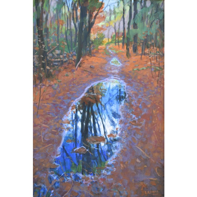"Stephen Remick ""Standing by Peaceful Waters"" Contemporary Triptych Painting by Stephen Remick - Set of 3 For Sale - Image 4 of 13"