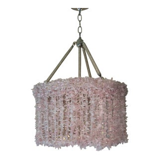 Ro Sham Beaux Pink Chip Quartz Chandelier For Sale