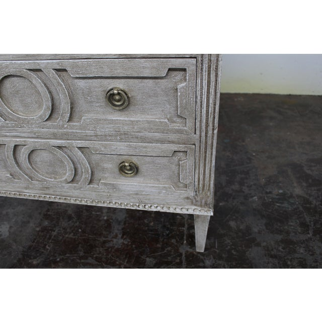 Mid 20th Century 20th Century Vintage Swedish Gustavian Style Nightstands - a Pair For Sale - Image 5 of 12