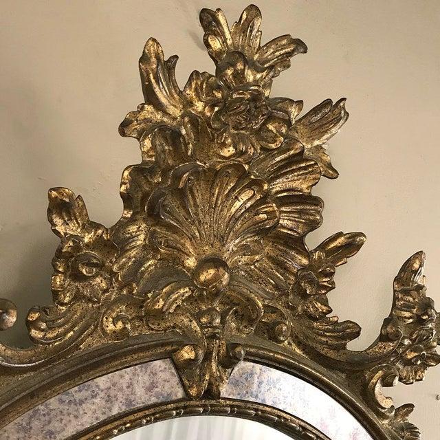 Mid 20th Century Mid-Century Italian Venetian Gilded Mirror For Sale - Image 5 of 13