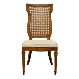 Tuscan Provincial Cane Back Dining Side Chair For Sale