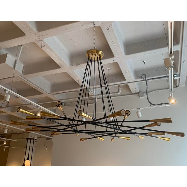 1960s Mid-Century Grand Scaled Twenty Four Light Chandelier, Italy For Sale - Image 4 of 4